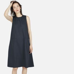 Everlane The Clean Cotton A-Line Dress In Navy
